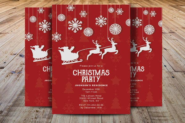 christmas party event flyer2