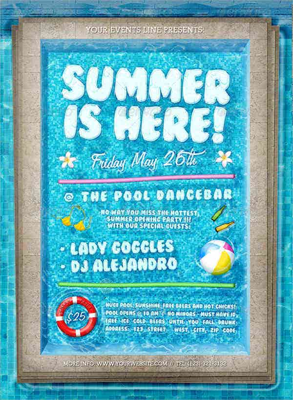 community-pool-party-flyer