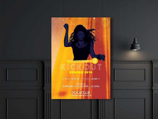 free dj event flyer