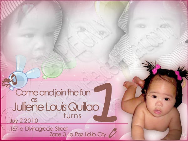 baby birthday invitation card4