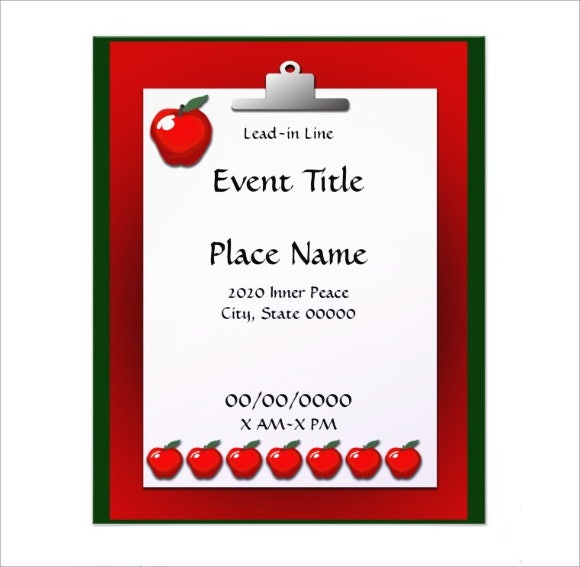 school event flyer psd