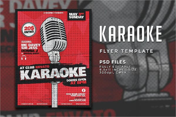 karaoke-dj-party-flyer