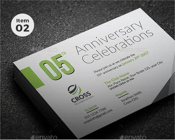 78invitation card templates free premium templates corporate anniversary invitation card stopboris Choice Image