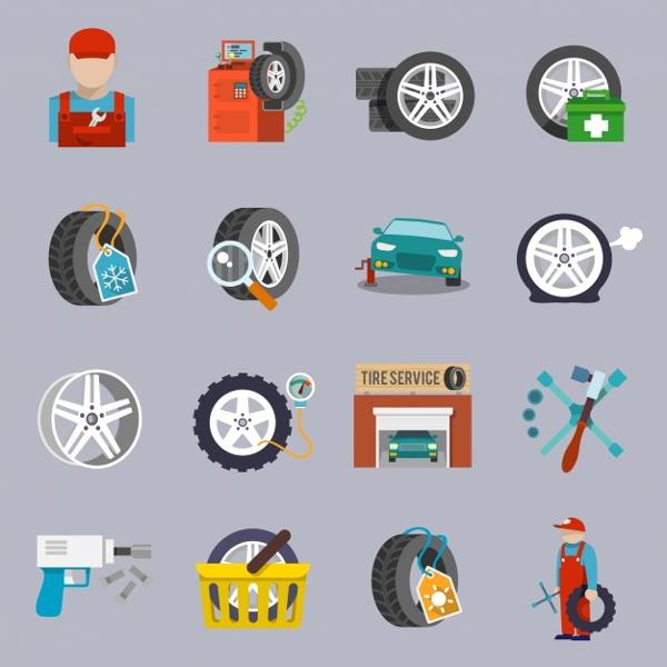 car-repair-icons