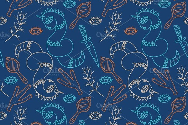 serpant-fantasy-pattern