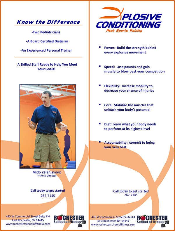 school fitness flyer