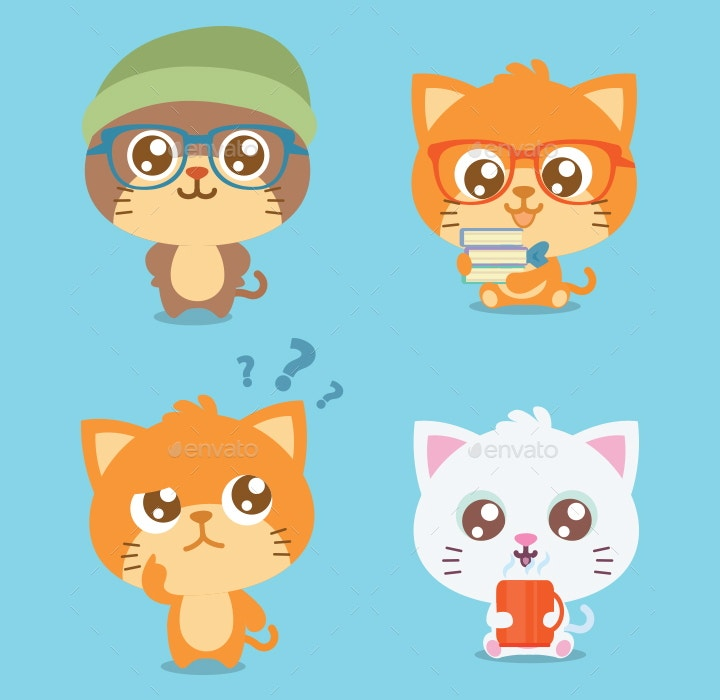 cat set illustrations