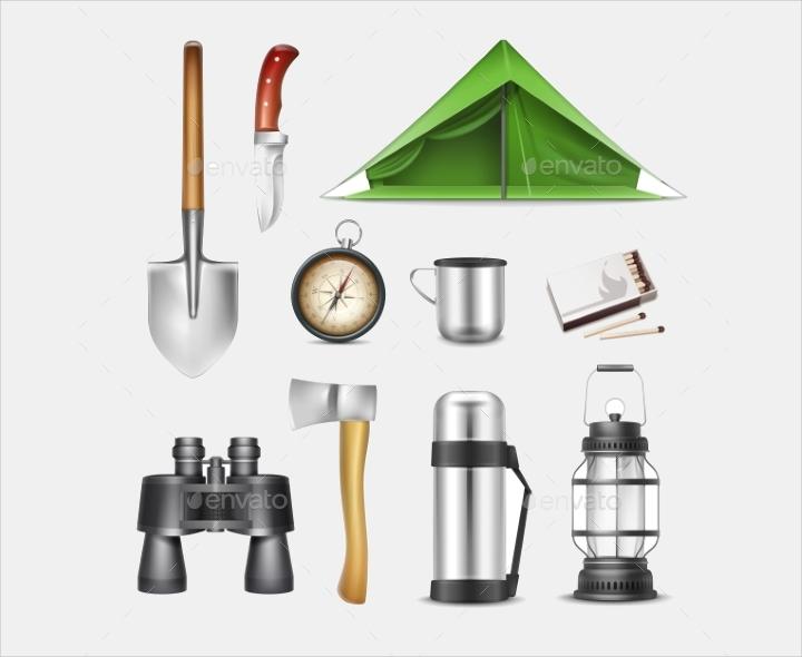 camping-set-vector