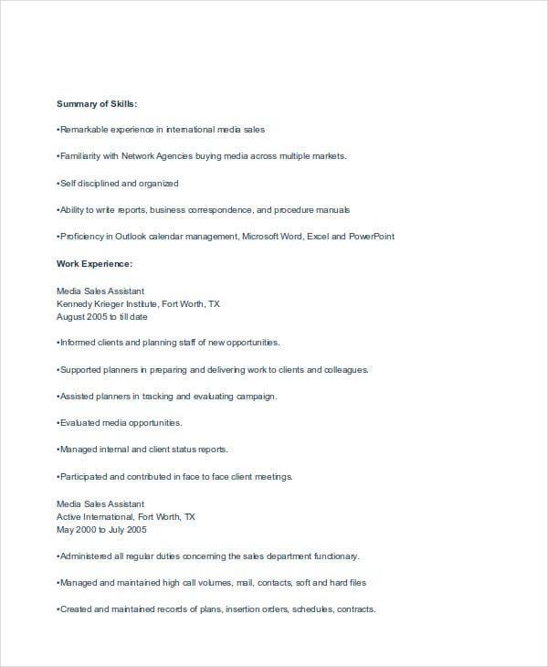 Sales Resume Templates  Free  Premium Templates