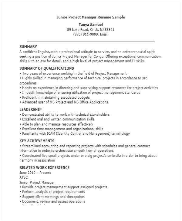 Manager Resume Sample Templates - 44+ Free Word, Pdf Documents