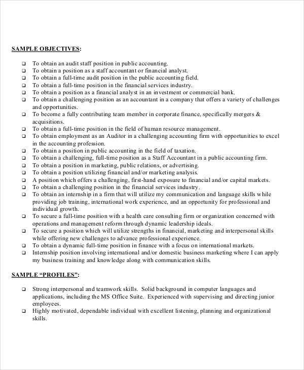 resume objective example for staff accountant2