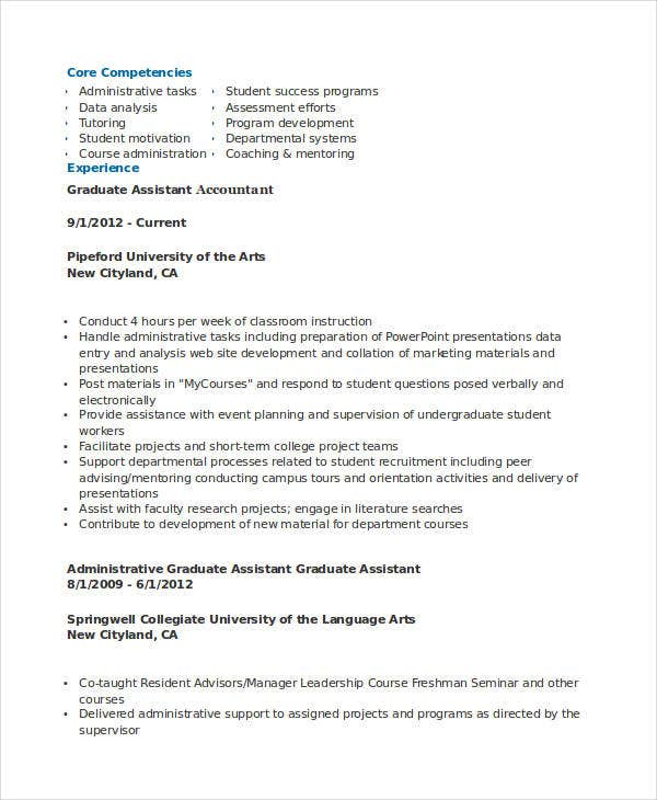 graduate assistant accountant resume5