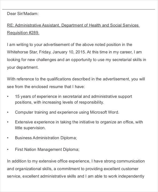 business administration application letter1