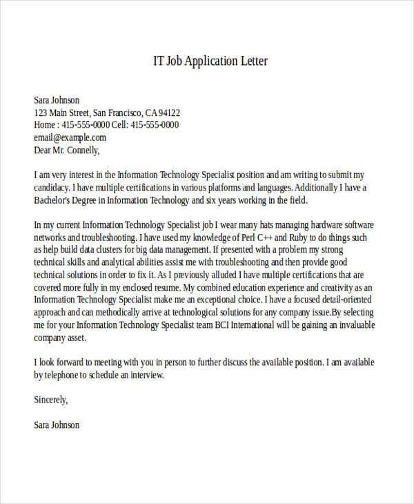 it job application letter2