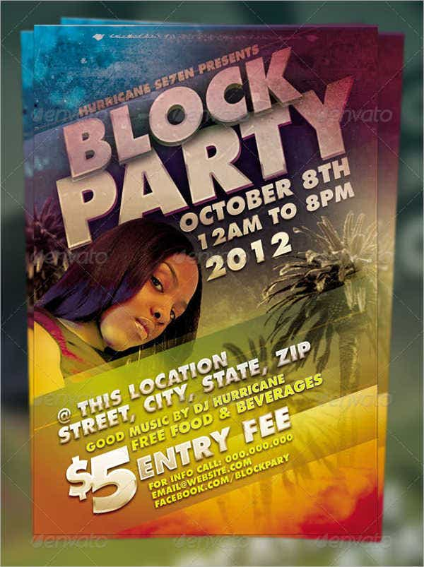 Block Club Party Flyer  Flyer Examples