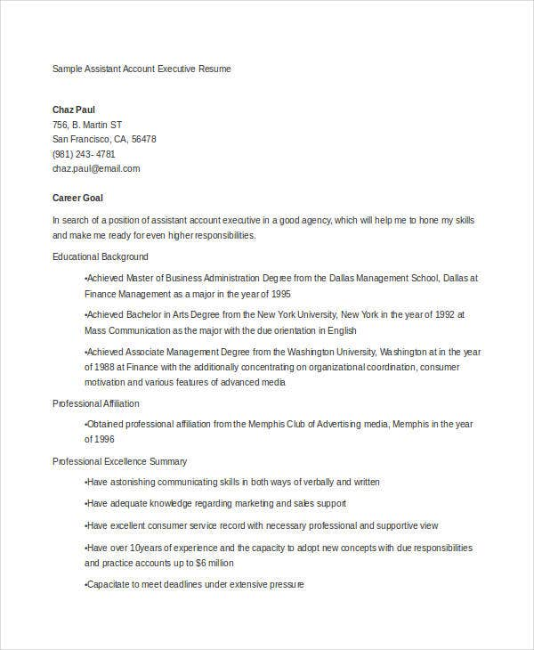 executive resume exles 24 free word pdf documents