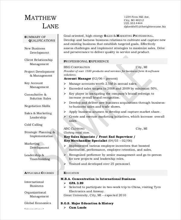 Account Executive Resume  Account Executive Resume Samples