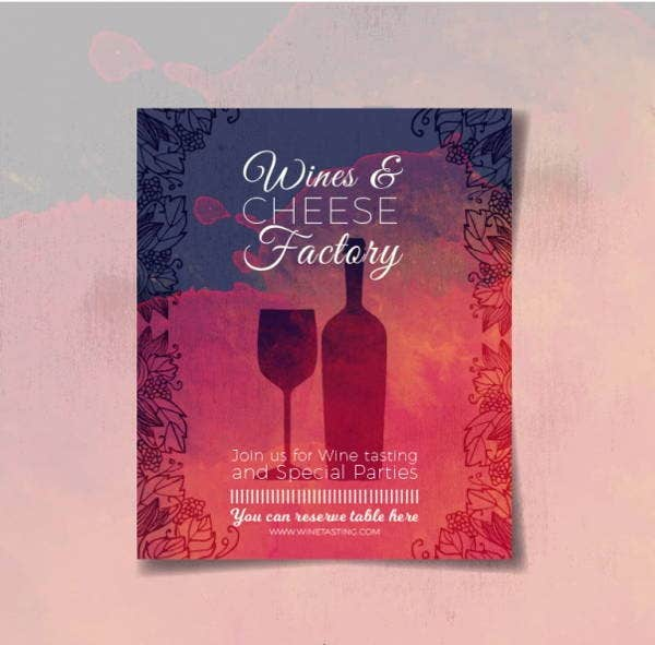 11 watercolor brochure templates free premium templates for Wine brochure template