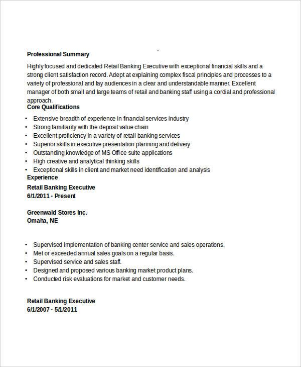 executive resume exles 27 free word pdf documents