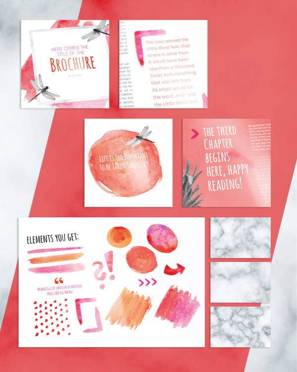 watercolor-marble-brochure-template