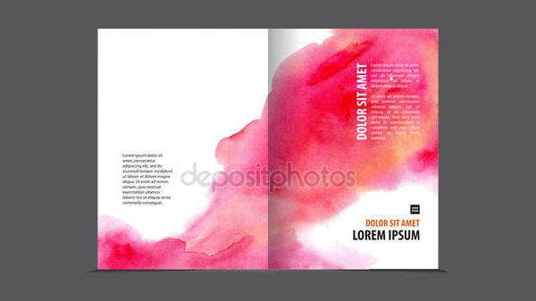 watercolor-bi-fold-brochure