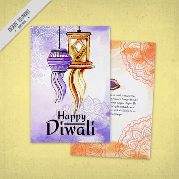 watercolor-diwali-brochure-template