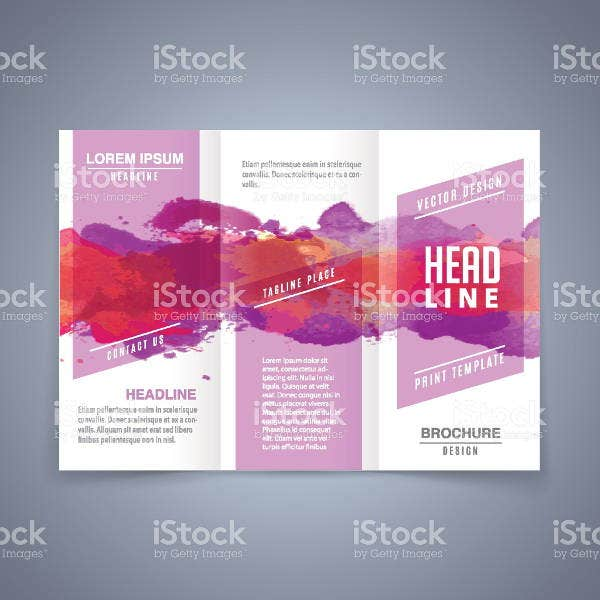 vector-watercolor-brochure-template