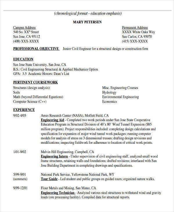 civil engineering cover letter format engineering resume cover letter