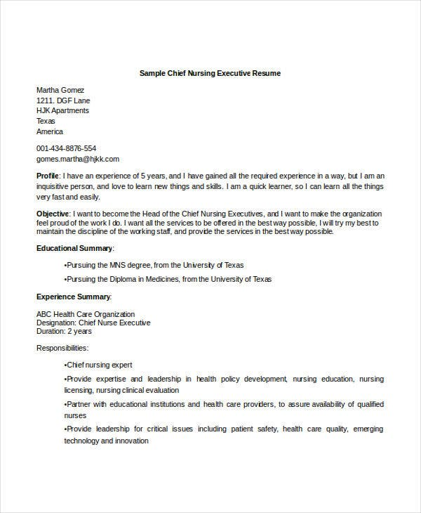 23  executive resume templates