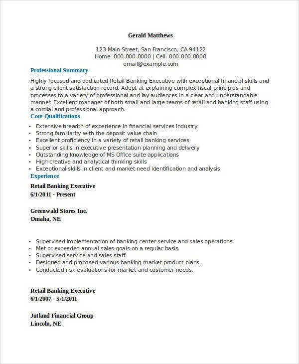 Executive Resumes Examples  Resume Examples And Free Resume Builder
