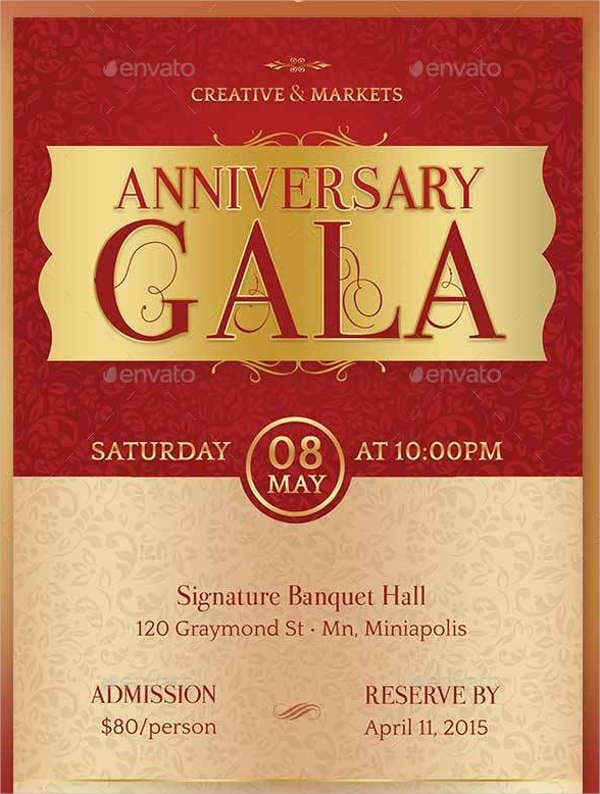 gala dinner invitation flyer