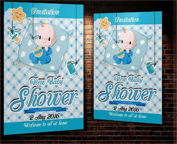 boy baby shower invitation flyer