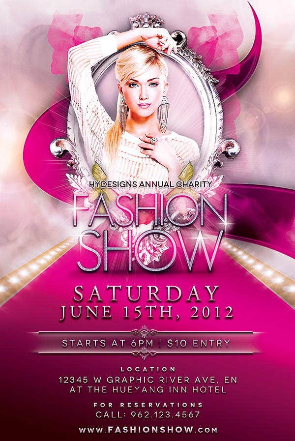 fashion show advertising flyer