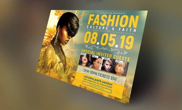 tropical fashion show flyer
