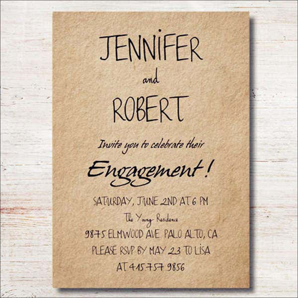 personalised engagement invitation card