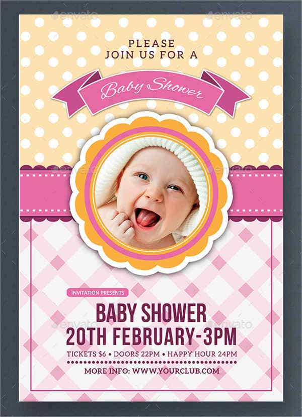 diy baby shower invitation flyer