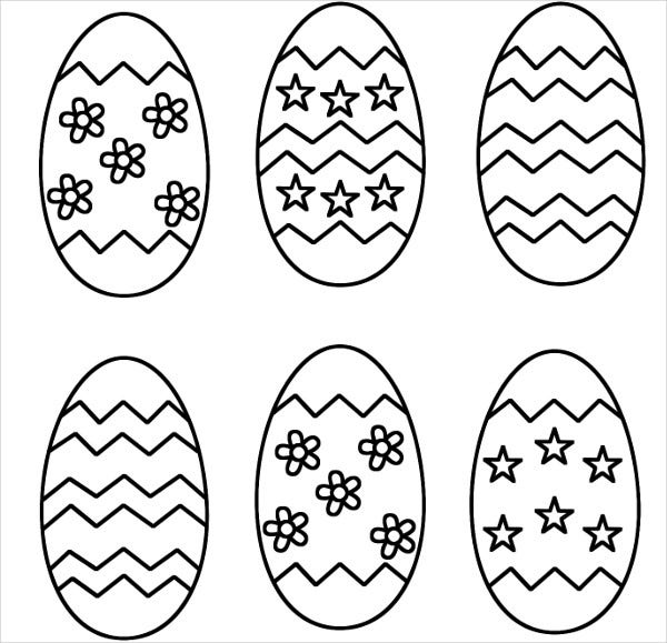 Easter Egg Coloring Template