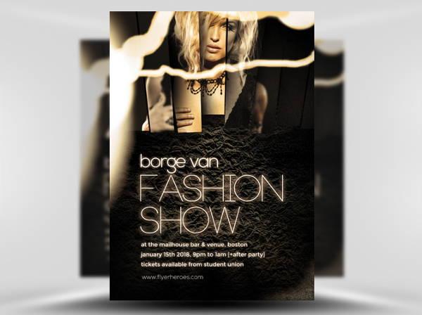 classy fashion show flyer