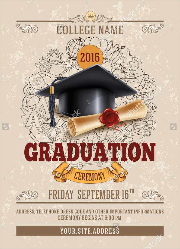 bachelors graduation invitation flyer
