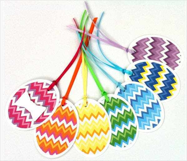 Easter Egg Gift Tag Template
