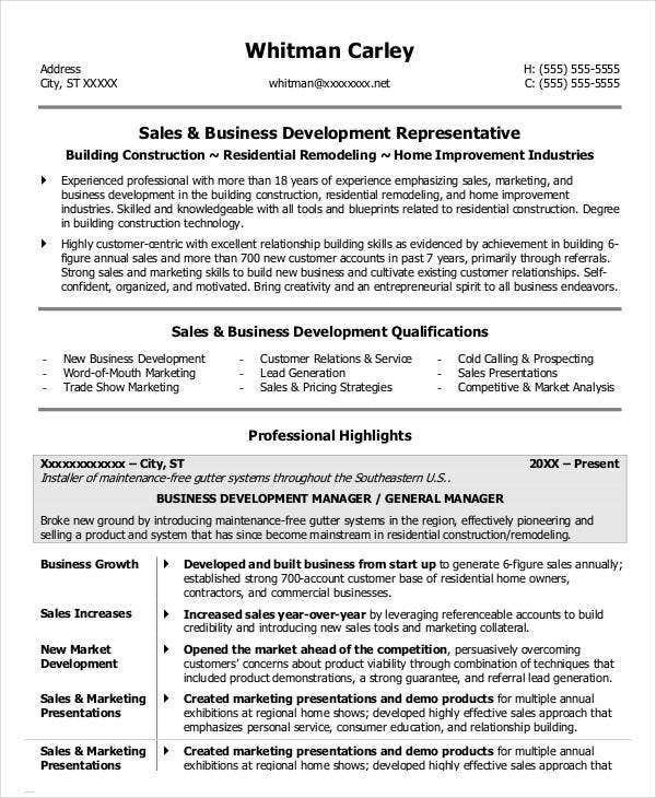 Former Business Owner Resume Sample