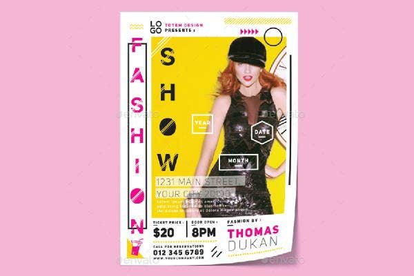 colorful fashion show flyer