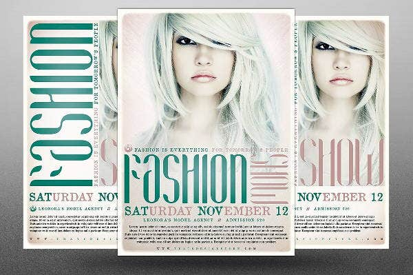 beauty fashion show flyer template