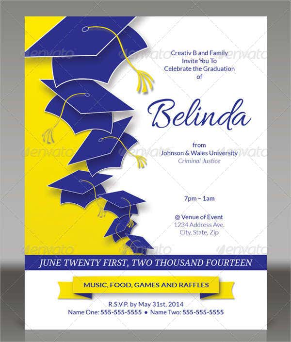 graduation ceremony invitation flyer