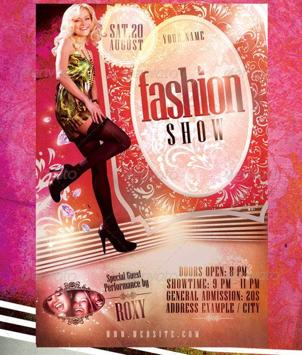 16   fashion show flyer templates in word  psd  ai  eps