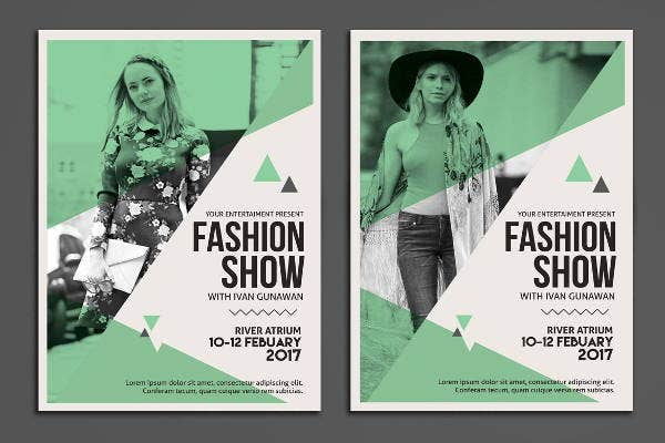 editable fashion show flyer