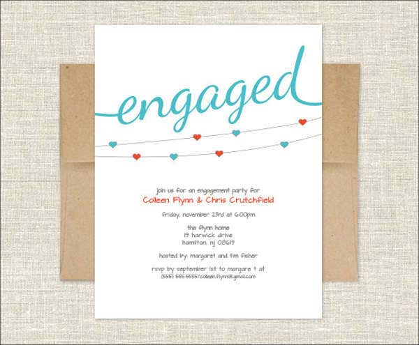 handmade engagement invitation card2