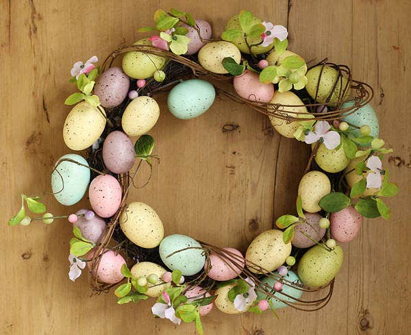 Easter Egg Wreath Template