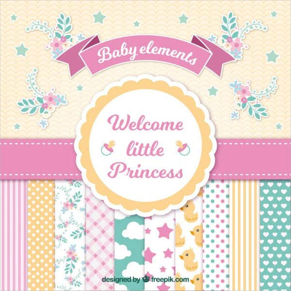 vintage baby shower greeting card