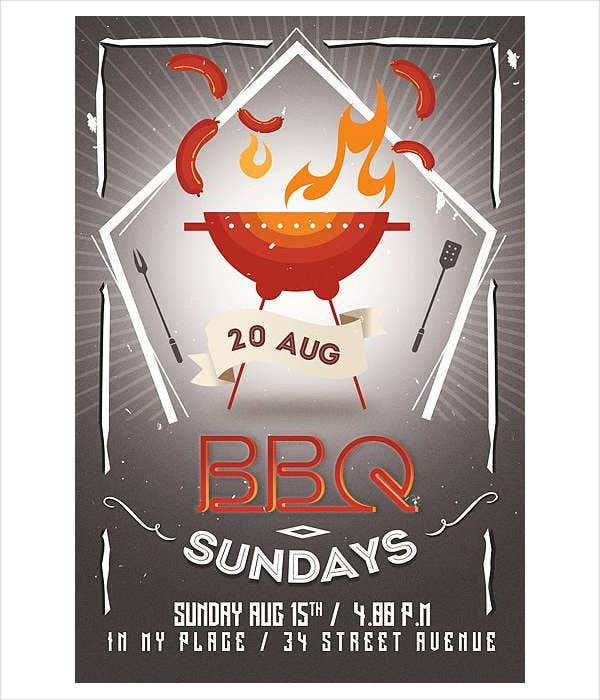 restaurant bbq invitation flyer
